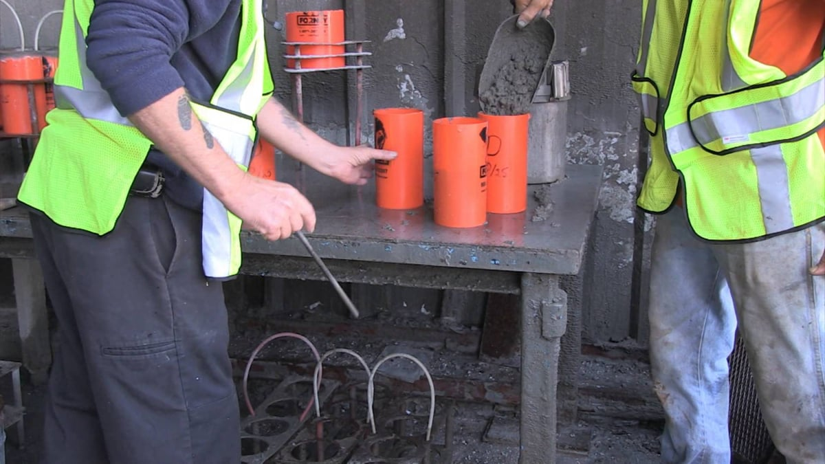 Fairbanks Trident Factory Pour Truck Scale - Concrete Break Video