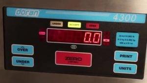 Doran 4300 Checkweigh Scale Video Doran – 4300 Checkweigh Scale Video