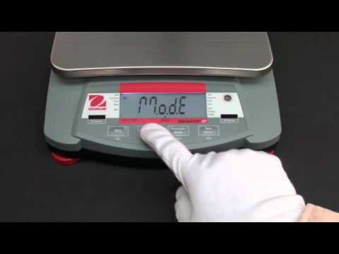 Ohaus Navigator Training- Menu Setup: Turn On/Off Weighing Units Video