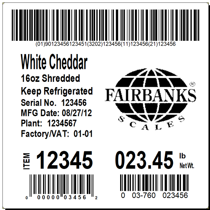 Fairbanks Scales LabelBank Software