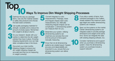 Top 10 Ways To Improve Dim Weight Shipping Processes